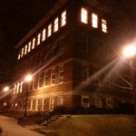 One of the school buildings on campus at UK