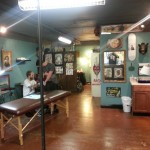 A shot of the shop