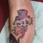 Rad skull with a rude 'tude!