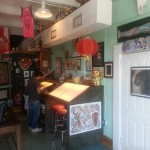 Working tables at Tattoo A Go Go